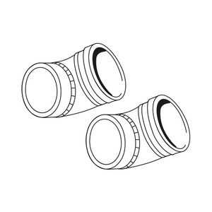 203230   Ideal high level flue elbow 45 deg (Pair)   Caradon