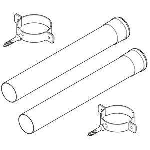 5111087 | Baxi twin-pipe extension 1000 mm 80 mm outer diameter | Baxi