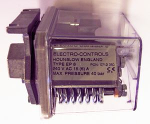 EP-8 | Electro Controls ep8 liquid pressure switch ip65 | Blacks Teknigas Electro Controls